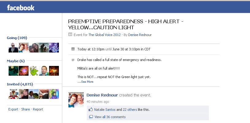 PREEMPTIVE PREPAREDNESS - HIGH ALERT - YELLOW...Caution Light via DRAKE